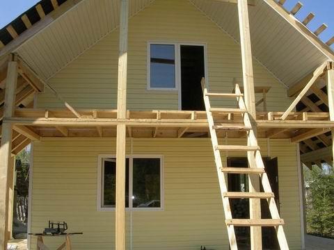 Балкон каркасного дома своими руками